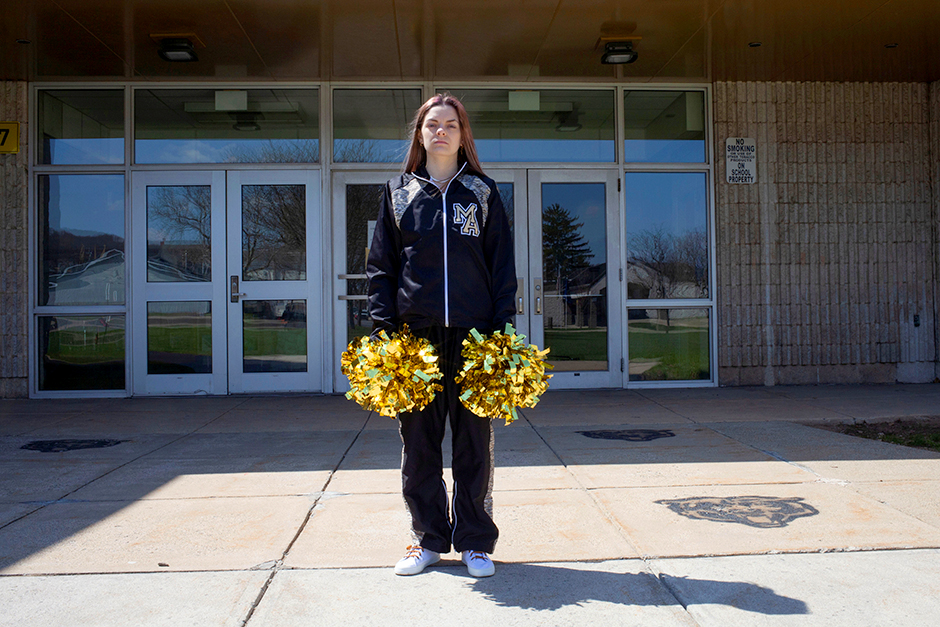 Brandi Levy, a former cheerleader at Mahanoy Area High School in Mahanoy City, Pennsylvania, poses in a photograph provided by the American Civil Liberties Union.