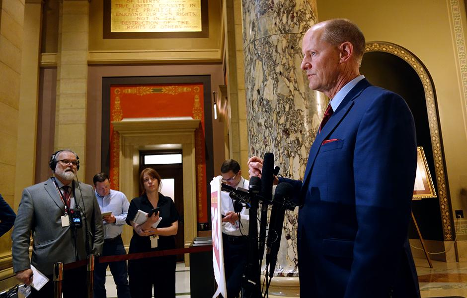 "Senate Majority Leader Paul Gazelka: ""All three of us feel like there's no way we should allow a shutdown."""
