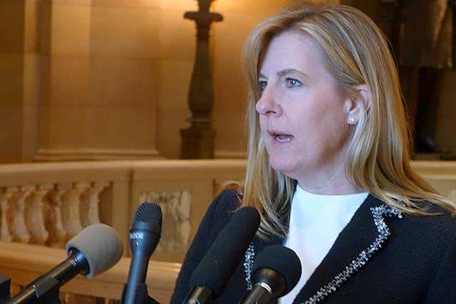 """House Speaker Melissa Hortman: """"Lots of things are on the precipice."""""""