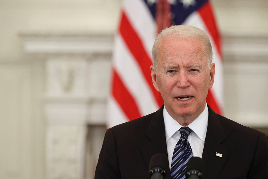 President Joe Biden delivering remarks after a roundtable discussion with advisors on steps to curtail U.S. gun violence, at the White House on June 23.