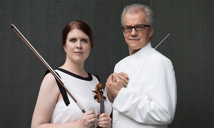 Minnesota Orchestra concertmaster Erin Keefe and music director Osmo Vänskä