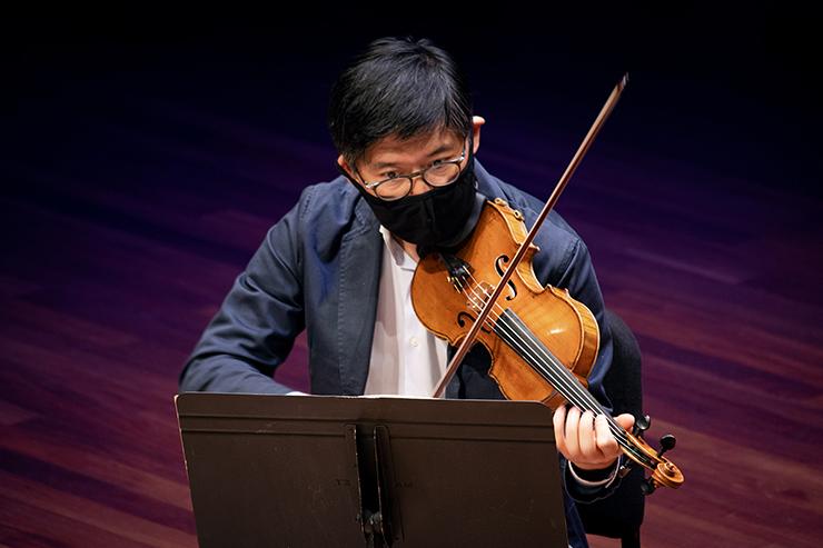 SPCO artistic director Kyu-Young Kim is also the orchestra's principal violin.
