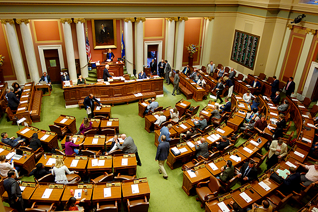 The Minnesota House of Representatives shown during Monday's special session.
