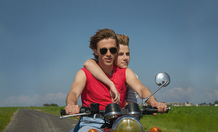 """Benjamin Voisin and Félix Lefebvre in a scene from """"Summer of '85."""""""