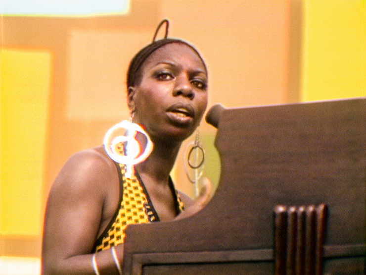 """A scene from """"Summer of Soul"""" featuring Nina Simone."""
