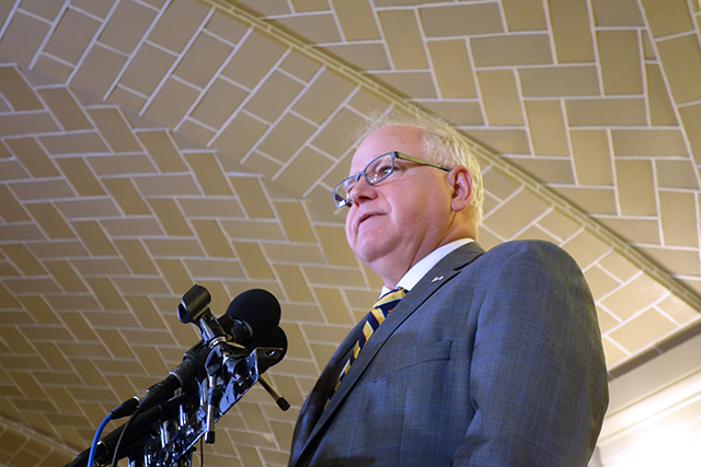"""Gov. Tim Walz: """"While we should have been done in May, there's certainly no reason why we wouldn't finish now."""""""