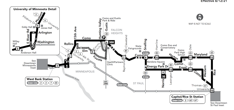 image of bus 3 route