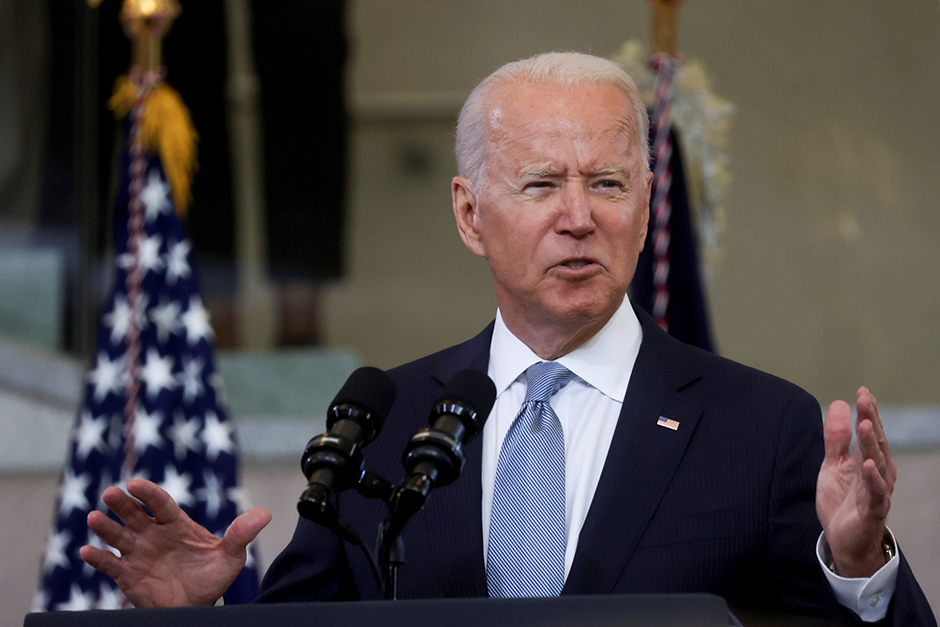President Joe Biden delivering remarks on actions to protect voting rights in a speech at National Constitution Center in Philadelphia, Pennsylvania.