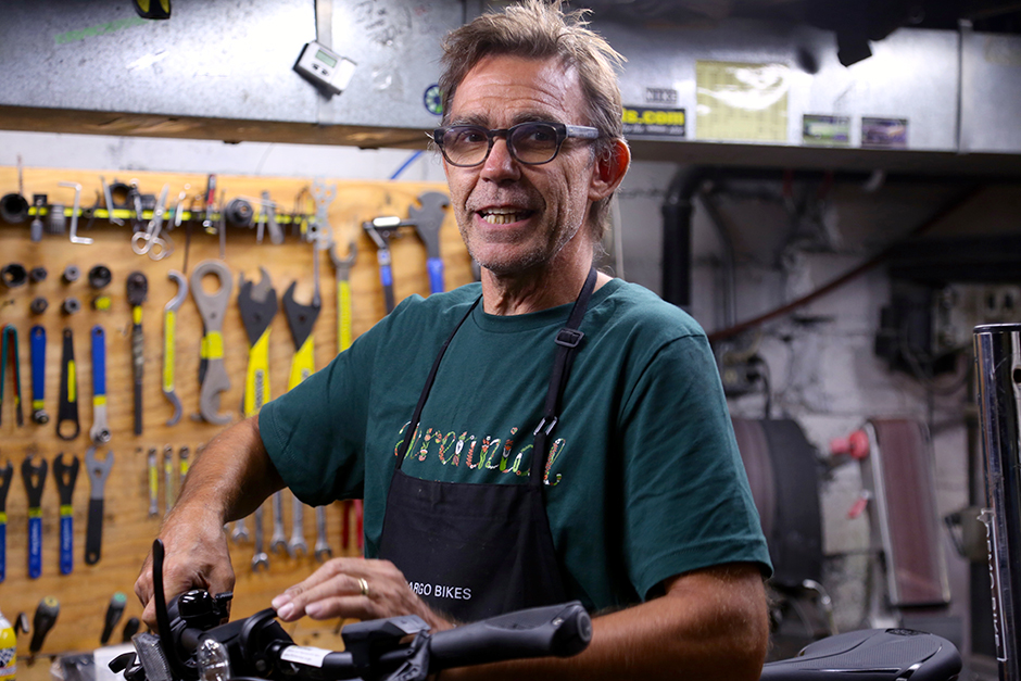 Luke Breen, the owner of Perennial Cycle in Uptown.