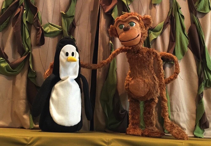 """The """"Penguin in My Pocket"""" puppet show will be performed at the Open Eye Theatre: 8th Annual Ice Cream Social."""