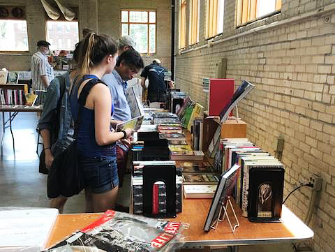 A scene from a Twin Cities Antiquarian Book Fair in its former location on the State Fairgrounds.
