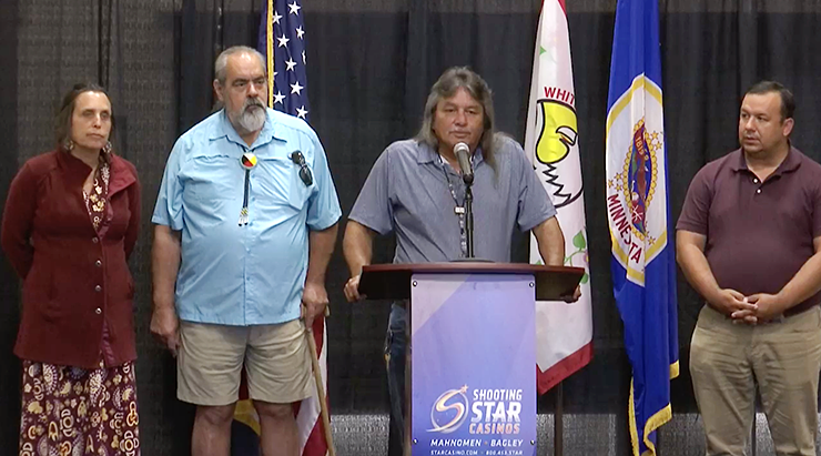 The White Earth Reservation Business Committee addressed the public during a July 9 press conference.