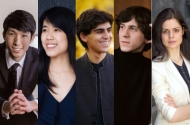 composite photo of performers in the chopin society's season