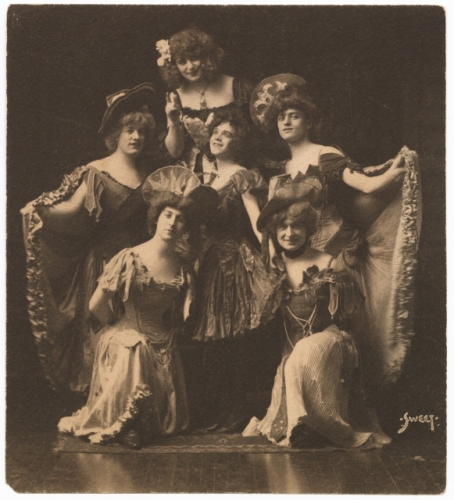 historic photo of drag performers
