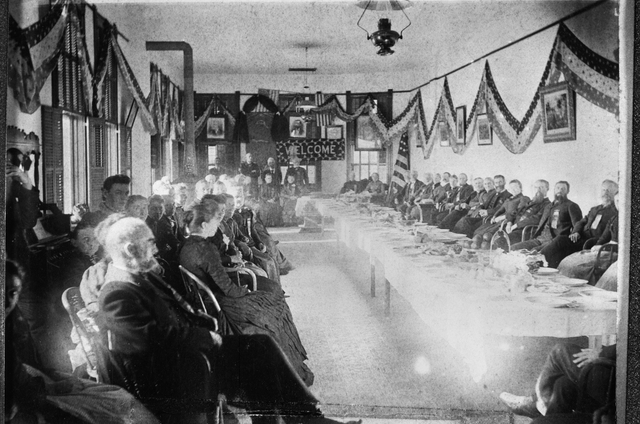 historic photo of meeting of state grange