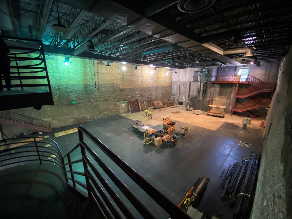 photo of lab theater under constriuction