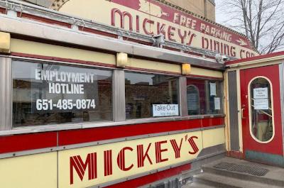 photo of st. paul's mickey's dining car closed down during the pandemic