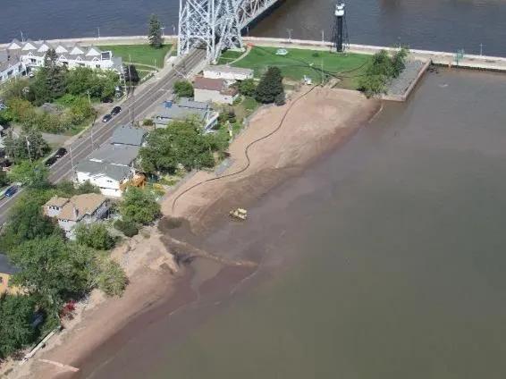 aerial photo of park point beach
