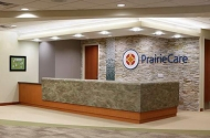 photo of front desk of prairie care facility
