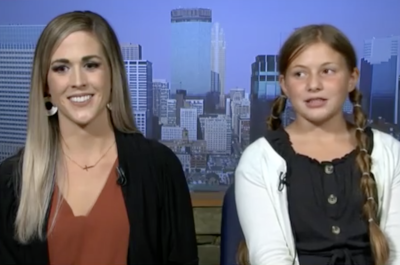 image from news cast of mother and daughter