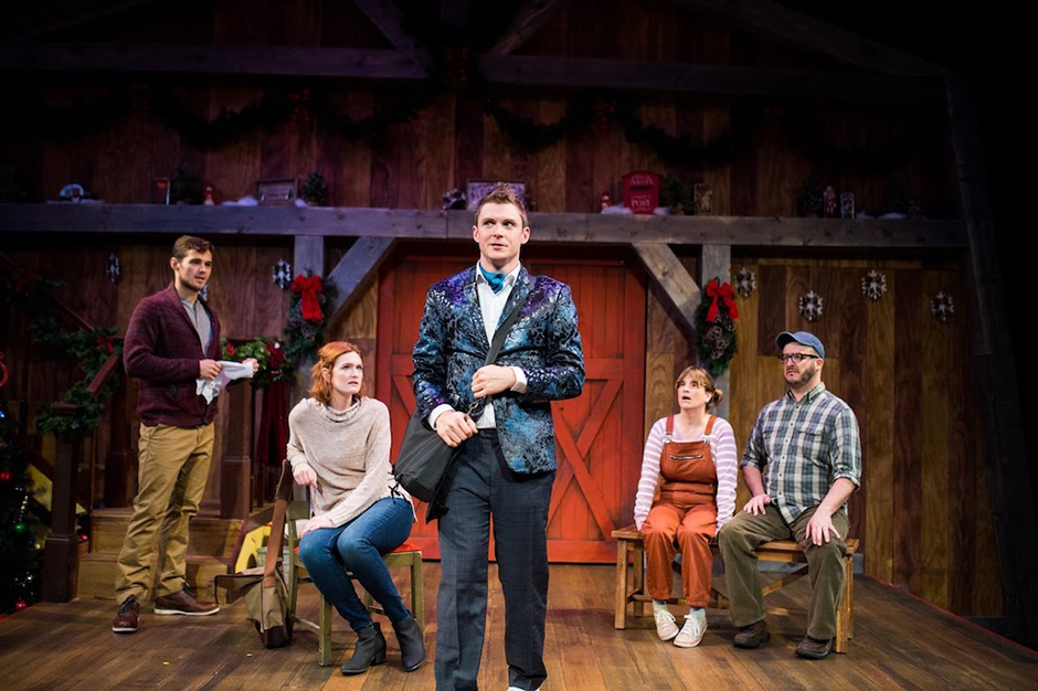 """Scene from the 2019 Yellow Tree Theatre production of """"Another Miracle on Christmas Lake."""""""