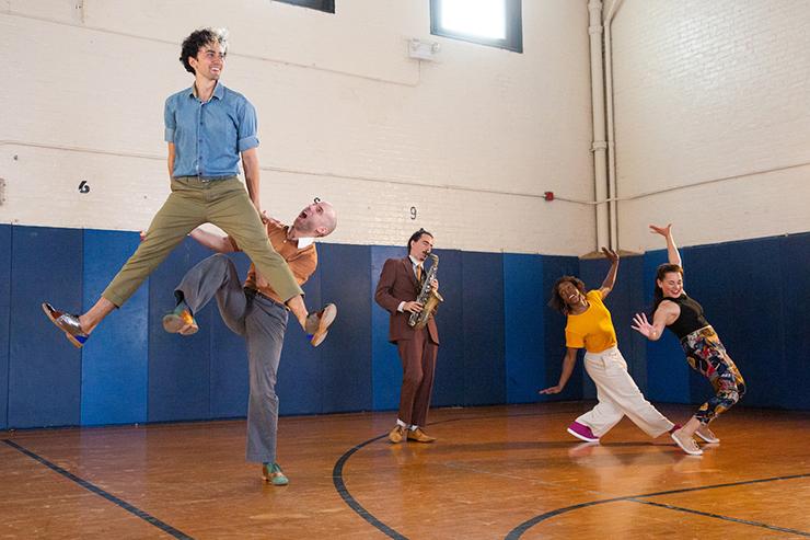 From left: Caleb Teicher, Nathan Bugh, Eyal Vilner, LaTasha Barnes and Evita Arce.