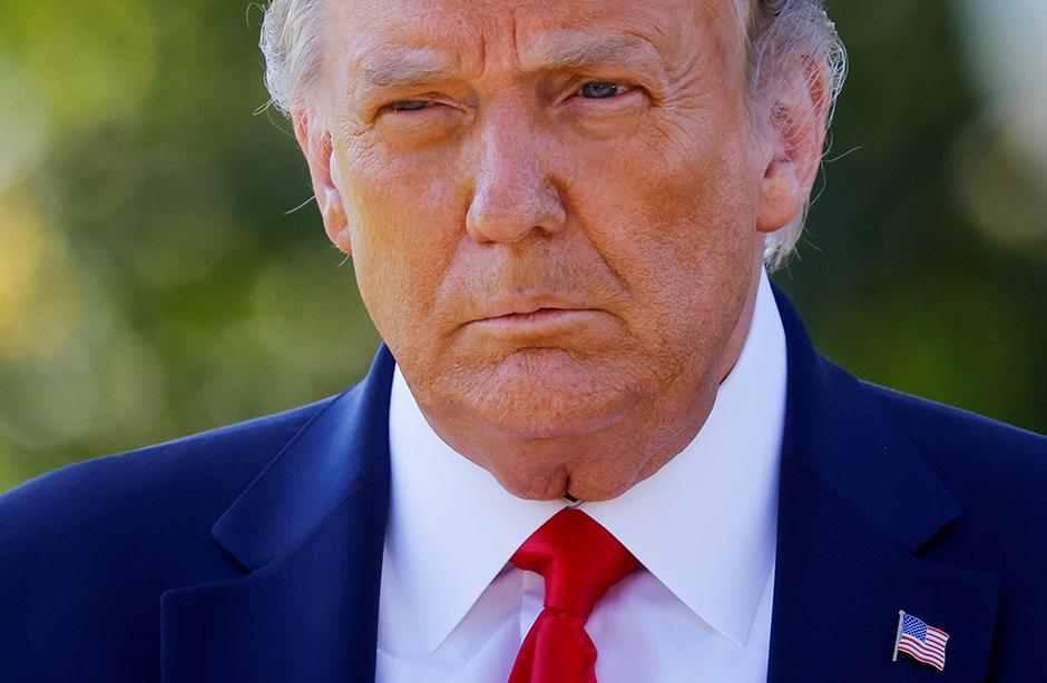 Then-President Donald Trump