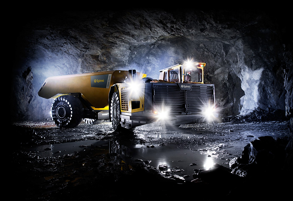 The Epiroc Minetruck MT42 battery is a mining truck for underground mining and civil construction applications.