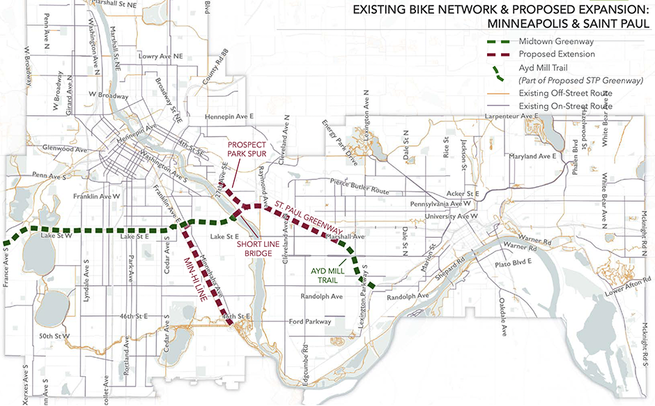 If you've never ridden on Minneapolis Midtown Greenway, which cuts east-west from the Chain of Lakes to the Mississippi River, stop what you're doing right now. Grab a bicycle and go.