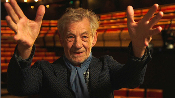 "Ian McKellen in ""On Broadway."""