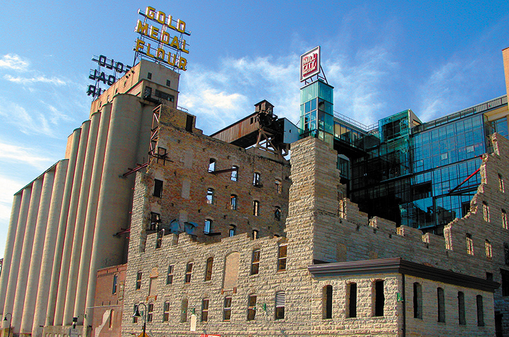 Mill City Museum's outdoor space, the Ruin Courtyard, is one of the great Minneapolis locations.