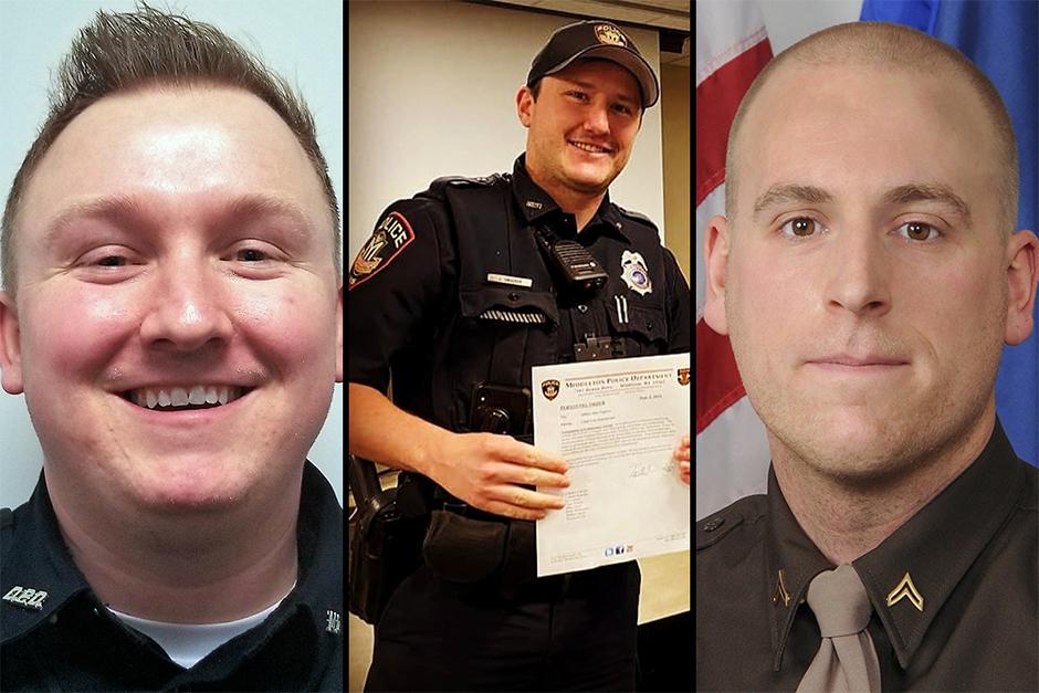 Officers Riley Schmidt, Jacob Ungerer and Ben Dolnick