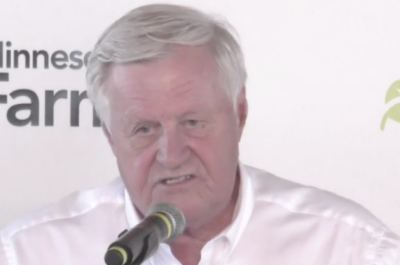 screenshot of formerr rep. collin peterson speaking at farmfest