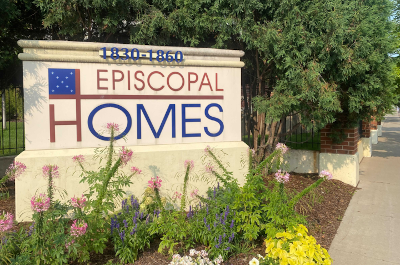 photo of sign outside episcopal homes