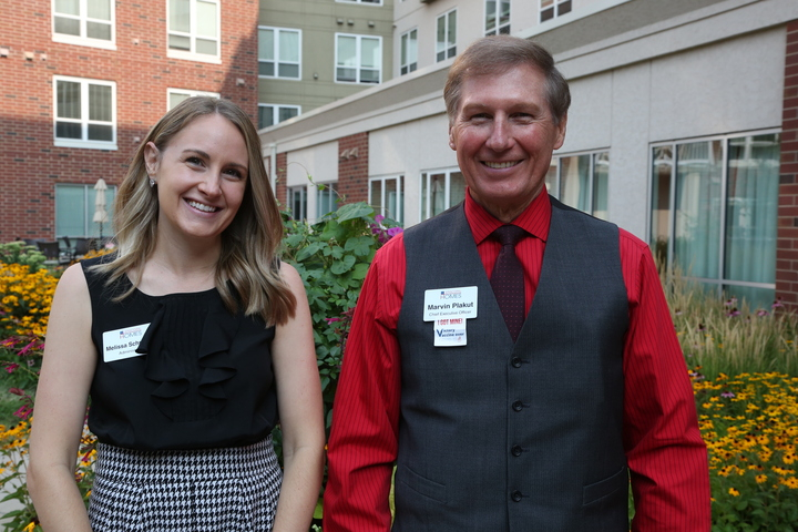 photo of two staffers at episcopal homes