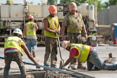 photo of road construction workers