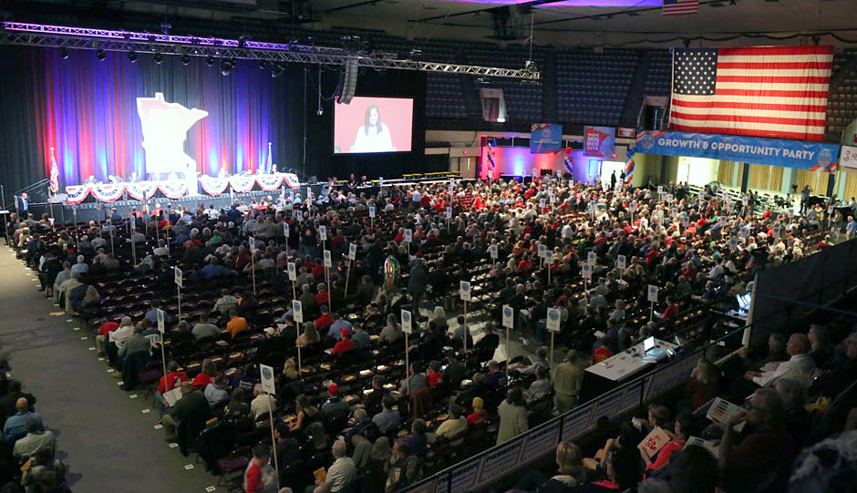 A scene from the 2018 Republican state party convention in Duluth.