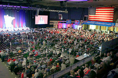 A scene from the 2018 Republican state party convention