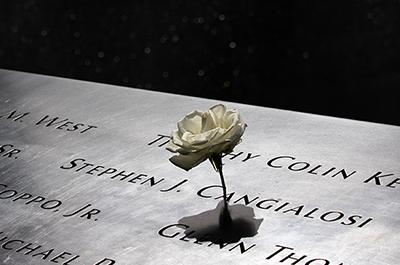 reflecting pool of the 9/11 Memorial