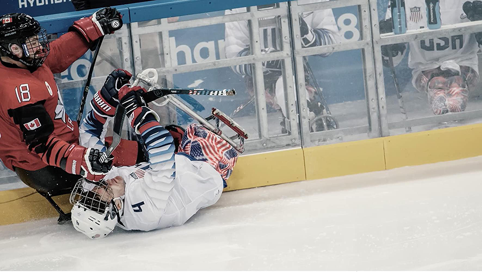 """An image from """"Empty Net,"""" the documentary about Team USA's dramatic gold medal victory in 2018."""