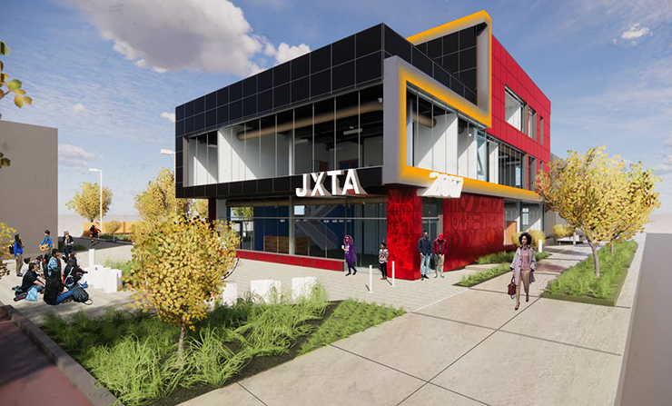 An architect's rendering of the new Juxtaposition Arts campus.