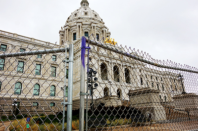 fencing is back up at the Minnesota Capitol