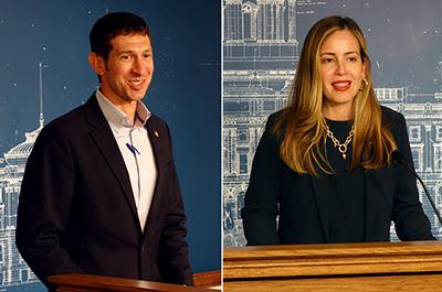 Jeremy Miller and Melisa López Franzen