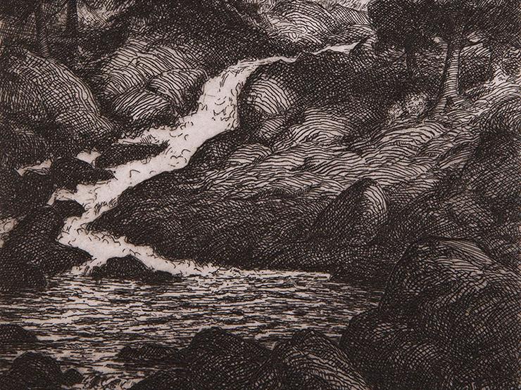 Stuart Loughridge etching