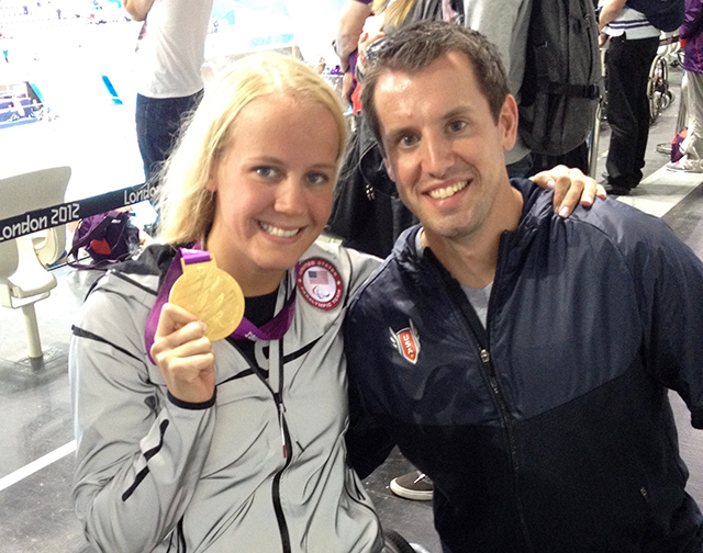 Three-time Paralympic swimmer Mallory Weggemann and her husband, Jeremy Snyder.