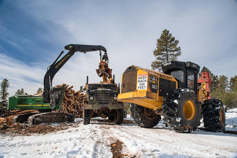 Logging trailer