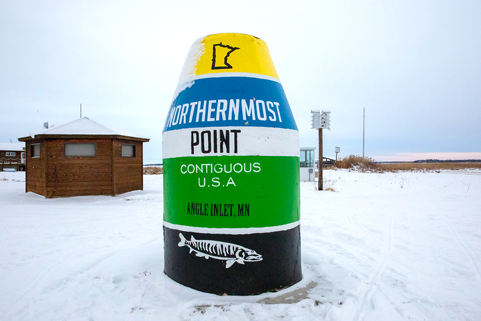 Minnesota's Northwest Angle can only be reached during most of the year by driving through Canada, catching a rare flight or boating across the enormous Lake of the Woods.