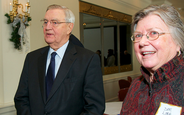 Former Vice President Walter Mondale and first female Minnesota House Speaker Dee Long