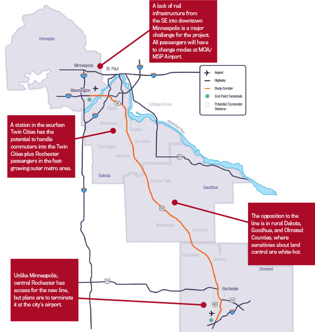 Rochster Subway Map If It Exist.Can A High Speed Rail Line From Rochester To The Twin Cities Be