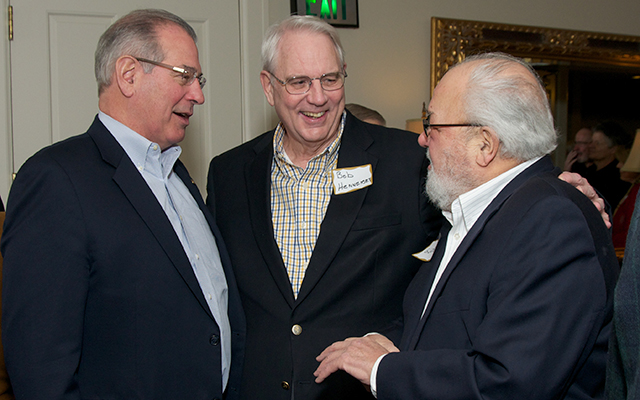Hennepin County Attorney Mike Freeman, attorney Bob Hennessey and former St. Paul Mayor George Latimer